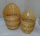 Wicker basket flowerpot holder
