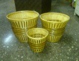 Wicker basket, flowerpot holder