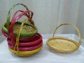 Coloured Wicker bread basket